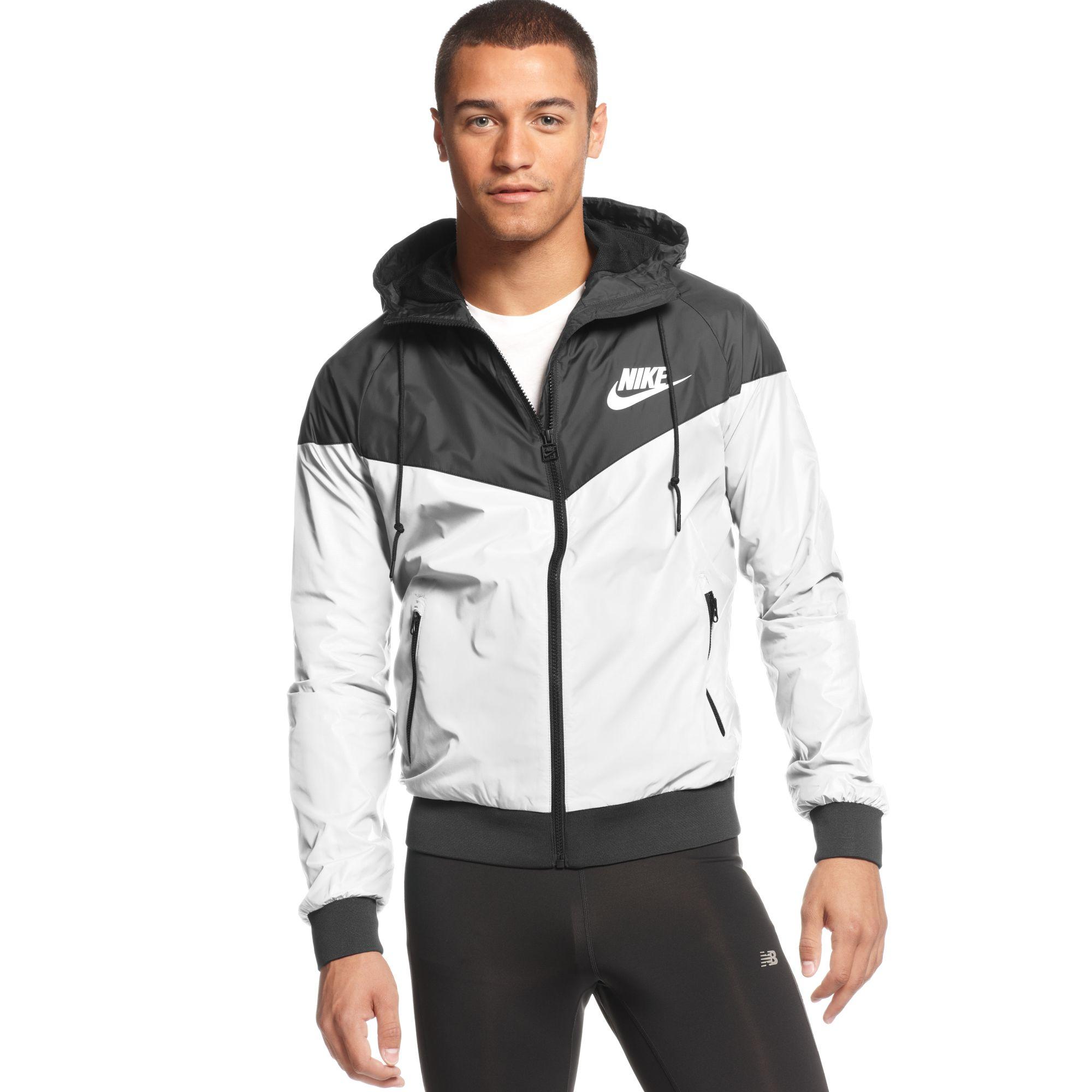 03bf41169f44 Lyst - Nike Wind Runner Hooded Jacket in White for Men