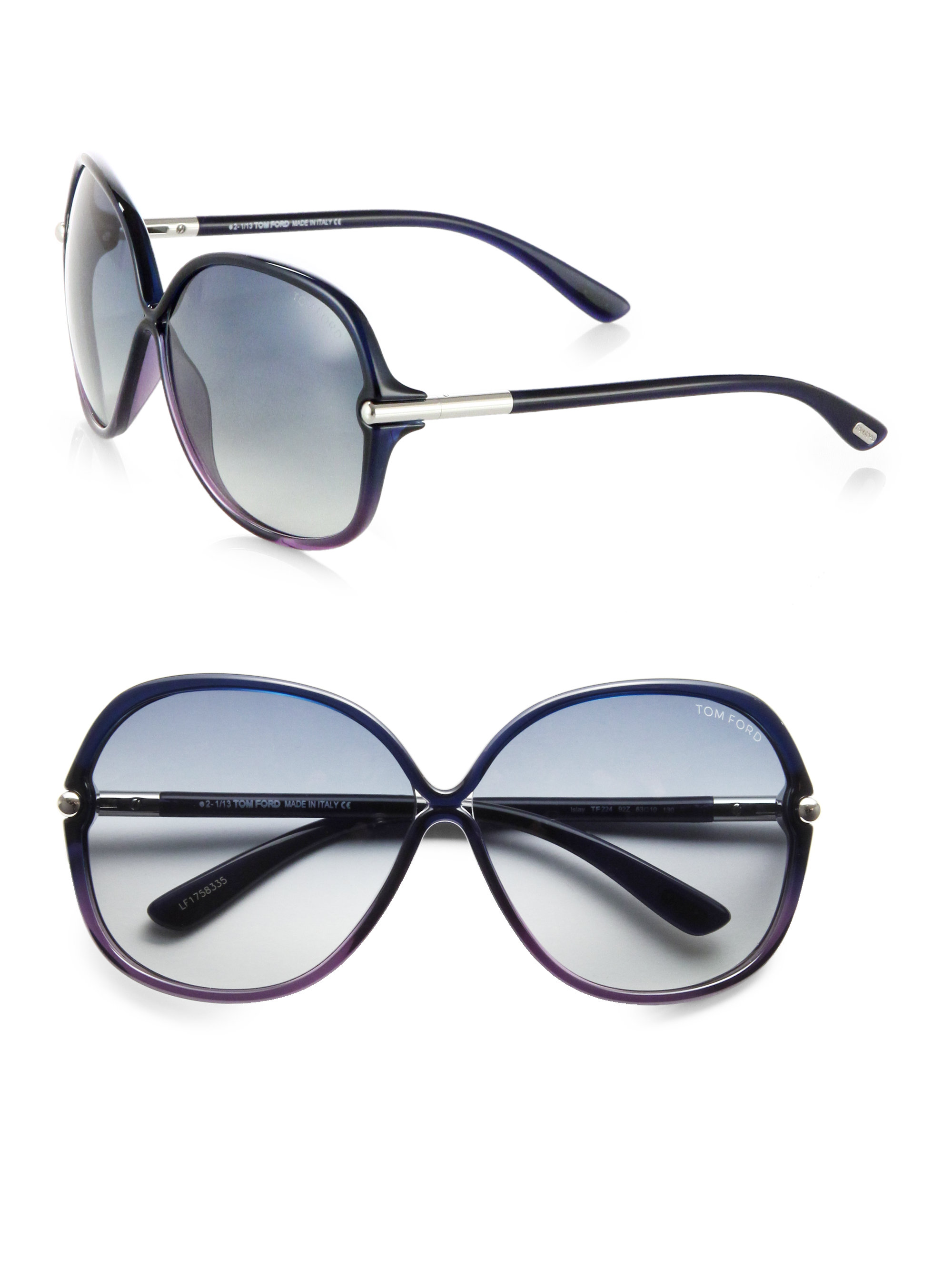 c361d8901db4b Tom Ford Islay Oversized Sunglasses in Blue - Lyst