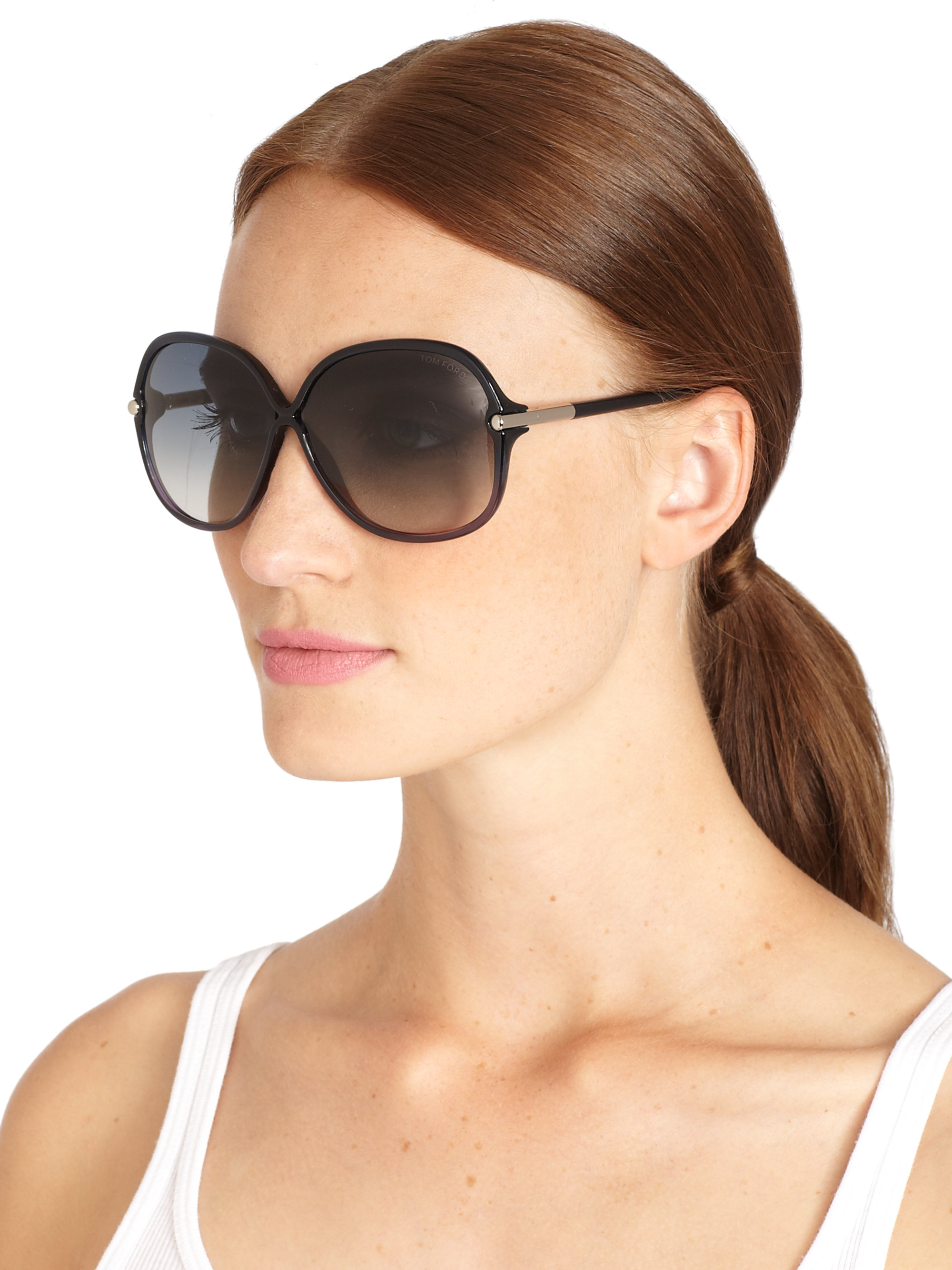 Tom Ford Oversized Sunglasses  tom ford islay oversized sunglasses in blue lyst