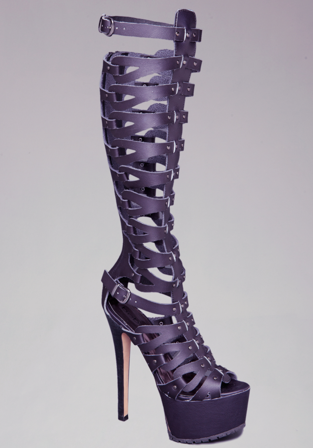Bebe Tacorda Gladiator Platform Sandals in Purple  Lyst