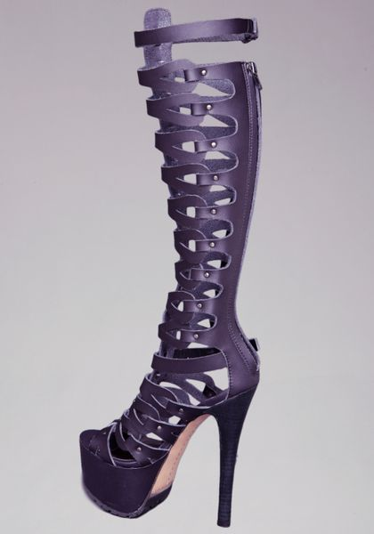 e579ed83e3c Bebe Tacorda Gladiator Platform Sandals in Purple