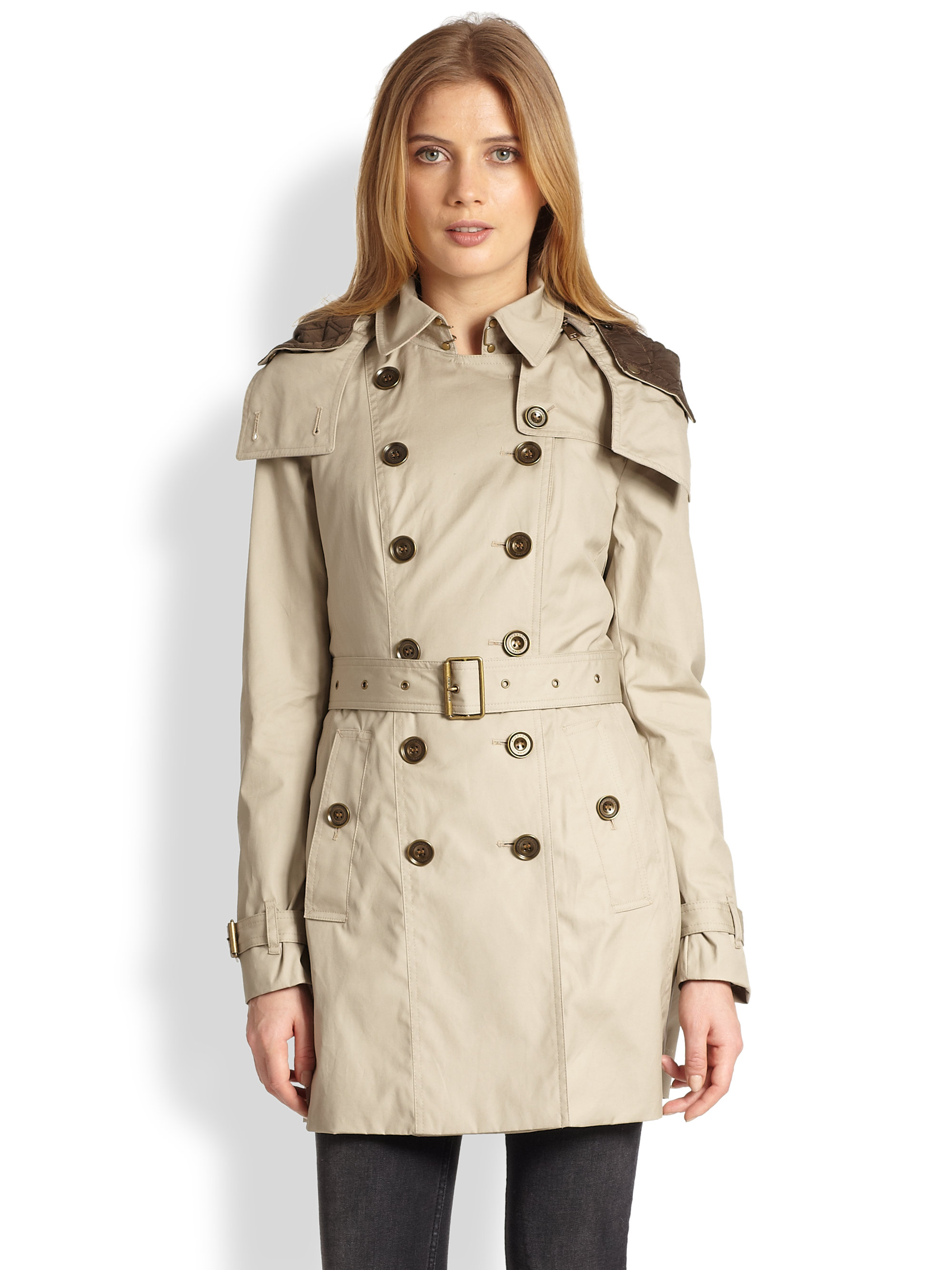 Burberry Reymoore Trench Coat In Natural Lyst