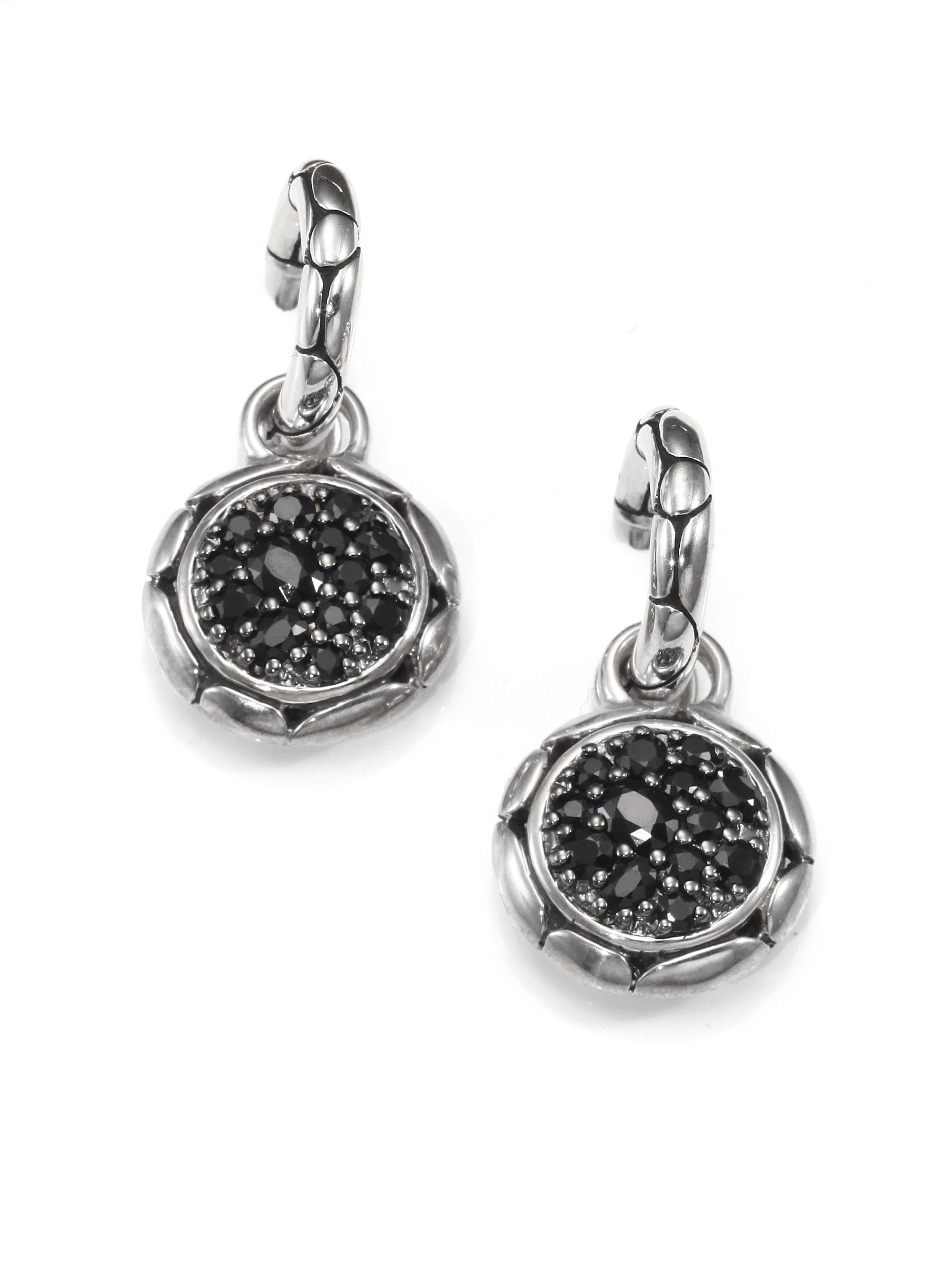 John hardy kali black sapphire sterling silver small for John hardy jewelry earrings