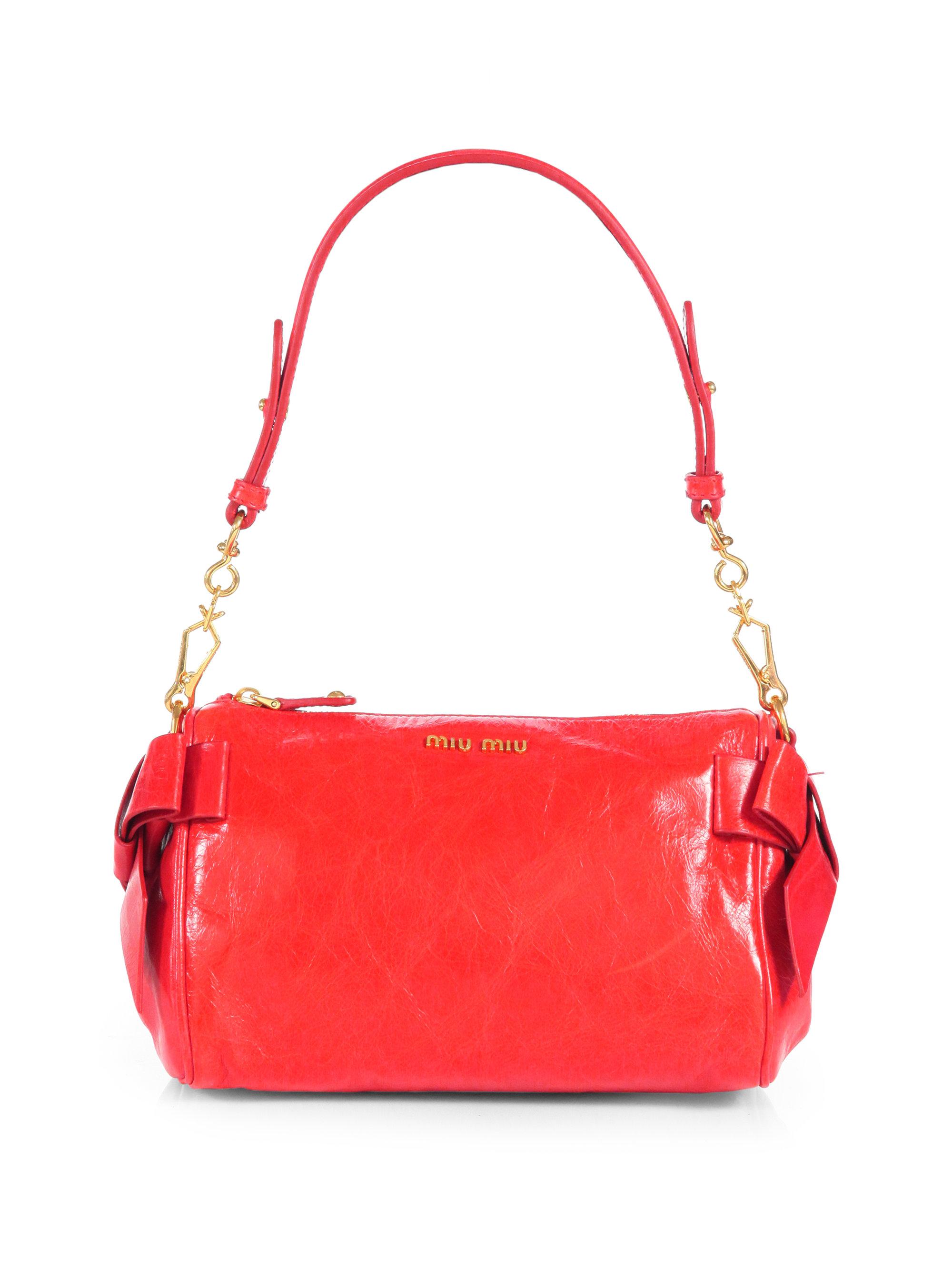 Miu Miu Vitello Small Bow Shoulder Bag 117