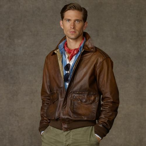 136c8c1d4 Polo Ralph Lauren Farrington Bomber Jacket in Brown for Men - Lyst
