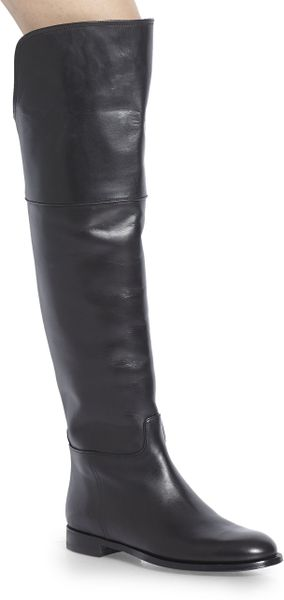 Ralph Lauren Collection Serisa Leather Overtheknee Boots in Black