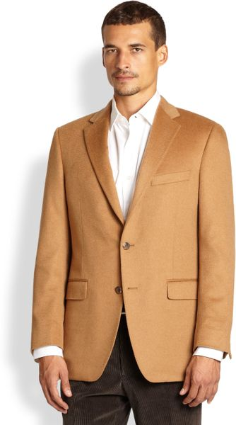 Samuelsohn Vicuna Sportcoat In Brown For Men Camel Lyst