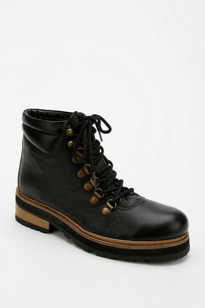 outfitters bdg hamilton leather hiking boot in black