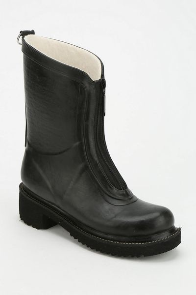 Urban Outfitters Ilse Jacobsen Zip Front Rain Boot In