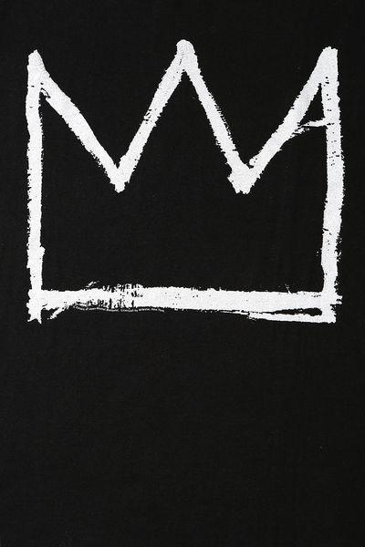 Junk Food Basquiat Crown Tee in Black for Men | Lyst Jean Michel Basquiat Crown