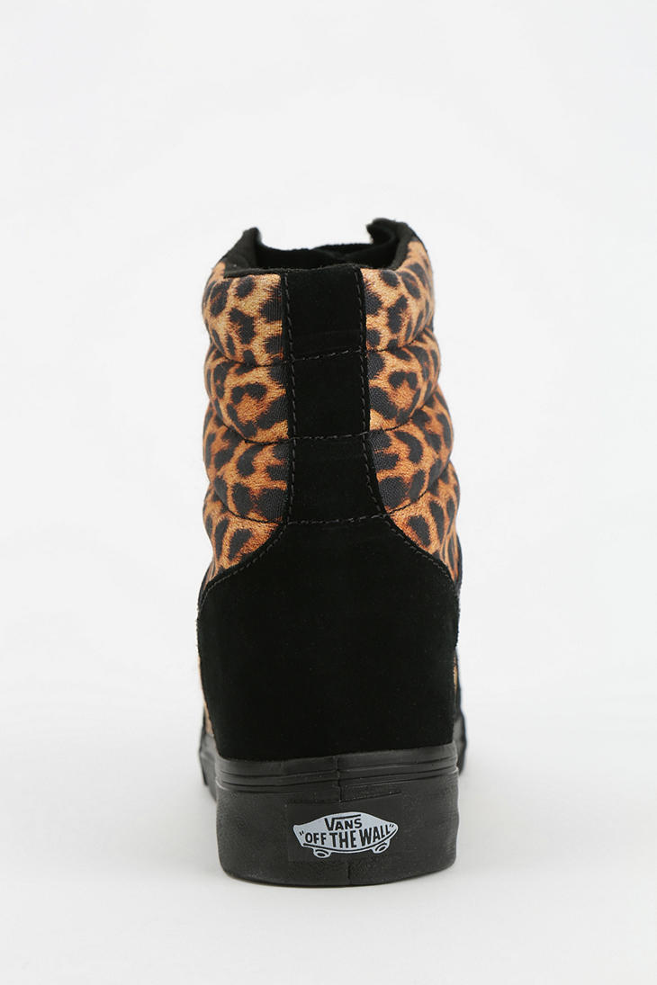 Lyst - Urban Outfitters Vans Sk8 Animal Print Hidden Wedge Womens Hightop  Sneaker in Black acd3de98fa86