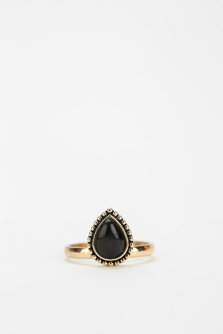 black stone gold ring - photo #29
