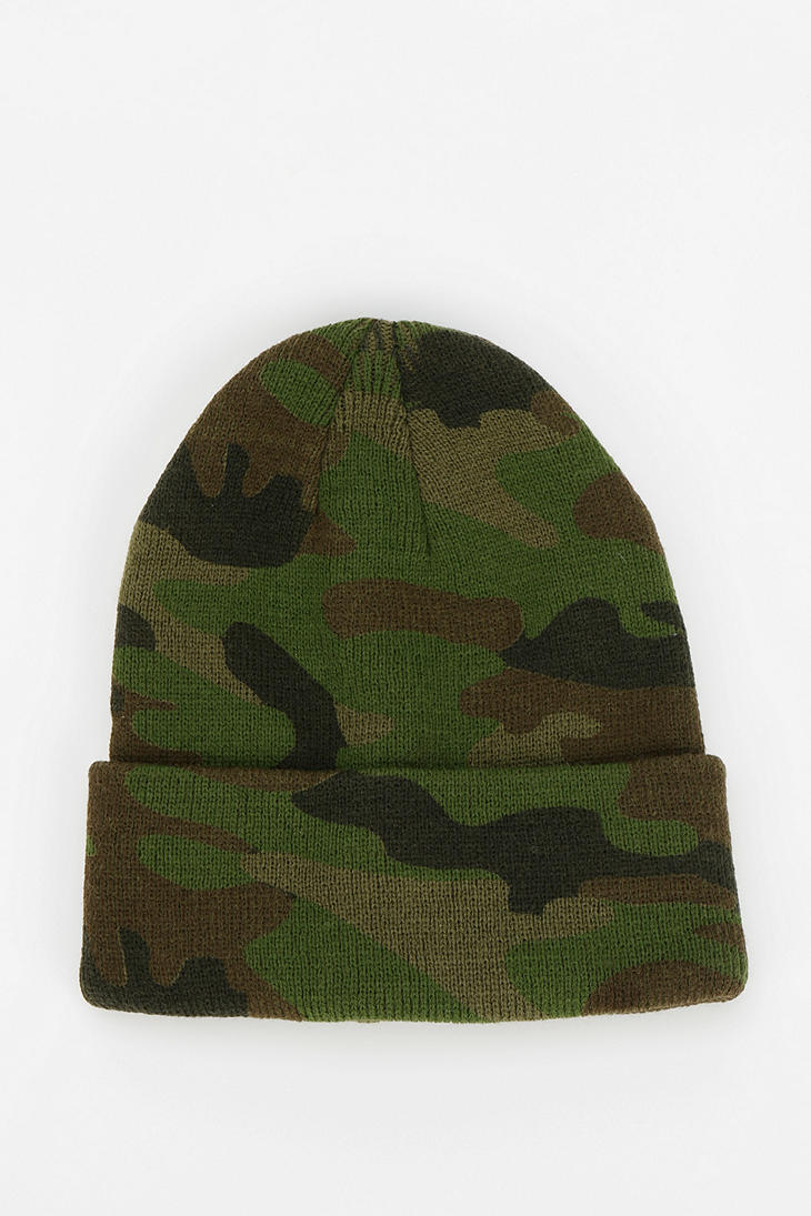 Lyst - Urban Outfitters Uo Camo Beanie in Green c02a8c48e24