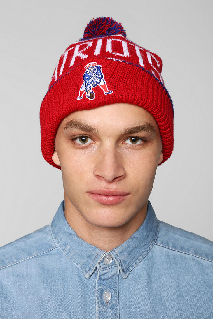 6f86eb0d5e34fb Urban Outfitters 47 Brand Calgary New England Patriots Beanie in Red ...