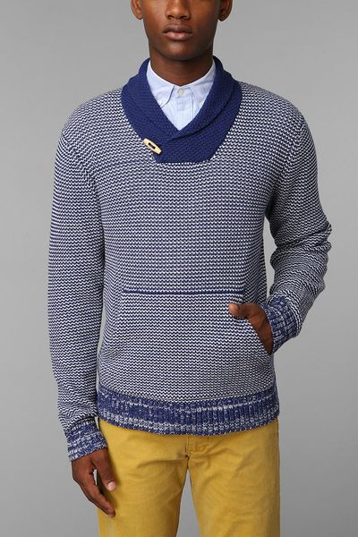 Urban Outfitters Cpo Pattern Shawl Pullover Sweater in Blue for MenUrban Outfitters Pattern