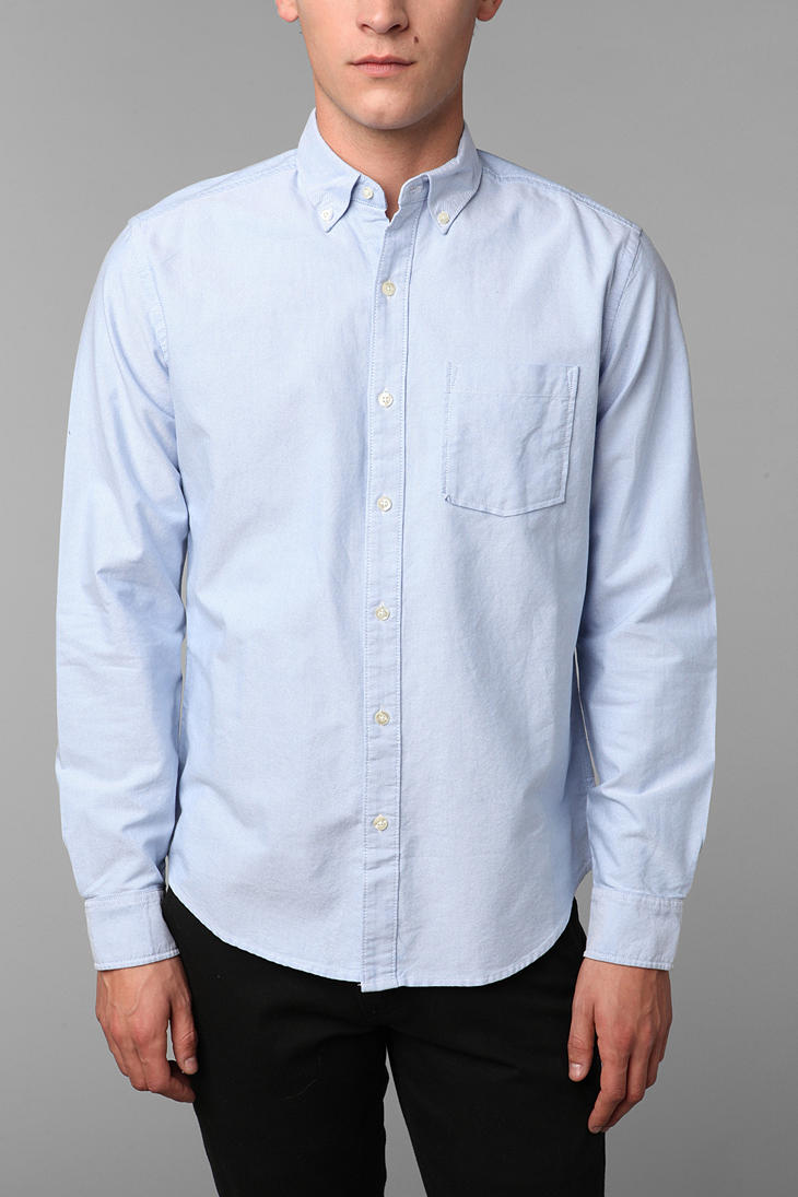 Urban outfitters Hawkings Mcgill Pin-point Oxford Button Down ...