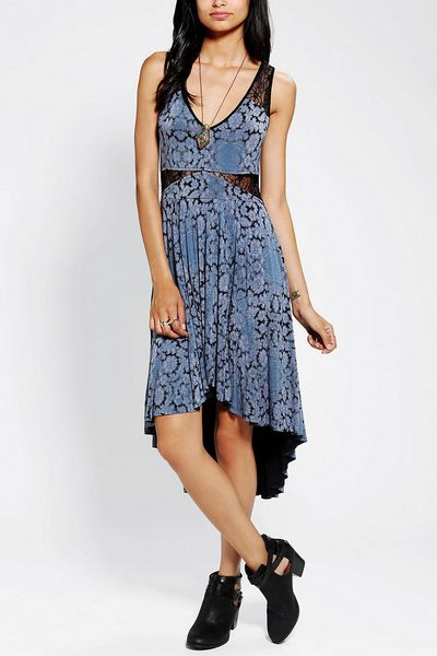 Urban Outfitters Ecote High-Low Lace Dress in Multicolor (BLUE MULTI)   Lyst