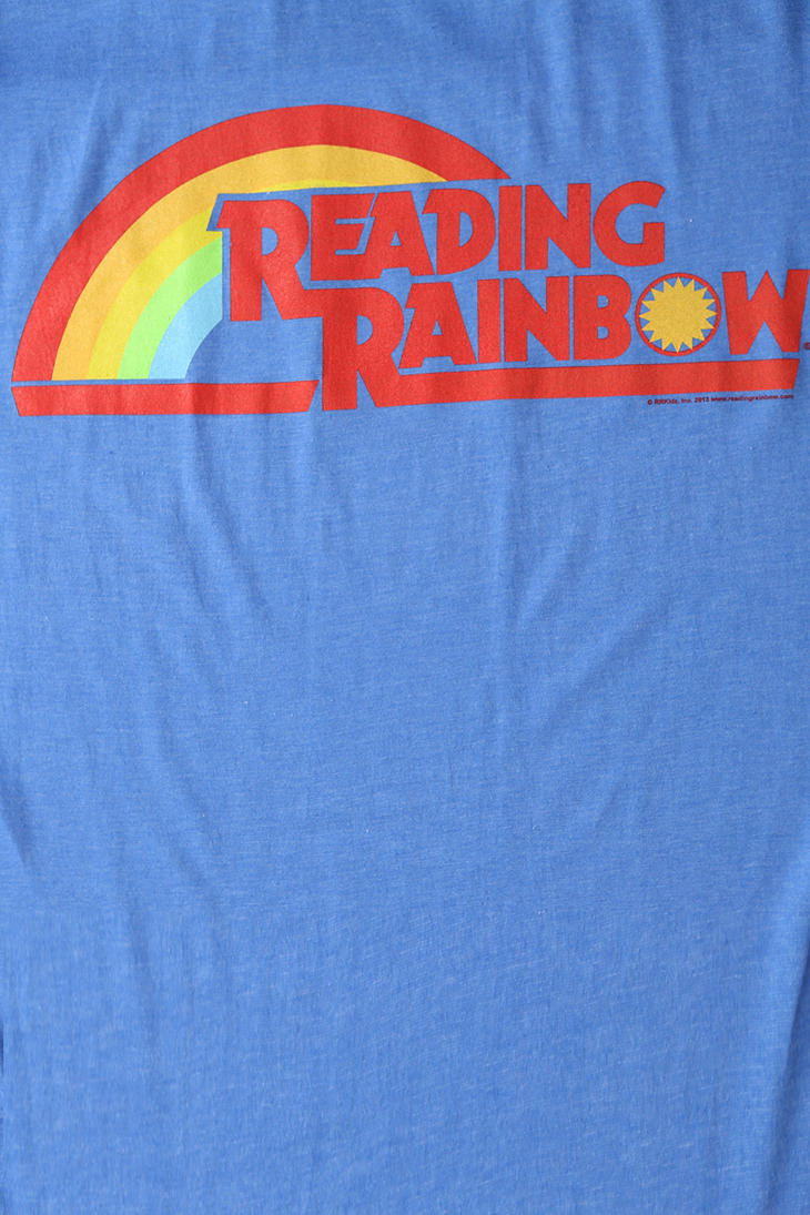 lyst urban outfitters reading rainbow tee in blue for men