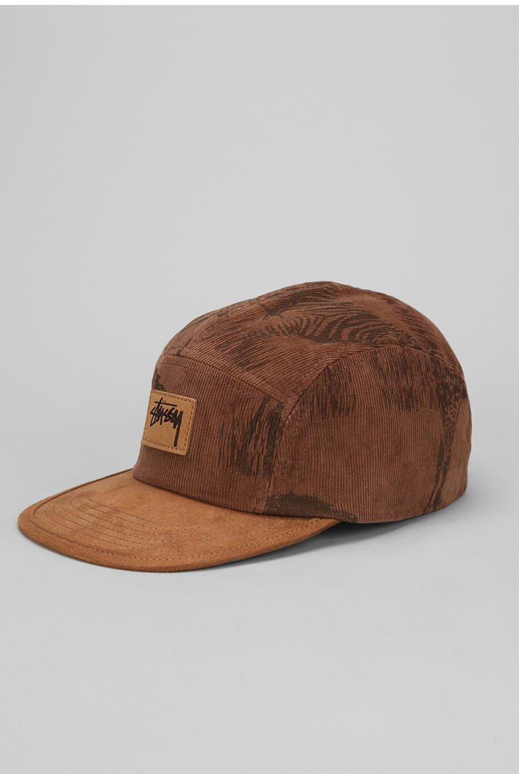 71a94f8797c Lyst - Urban Outfitters Stussy Savannah Corduroy 5panel Hat in Brown ...
