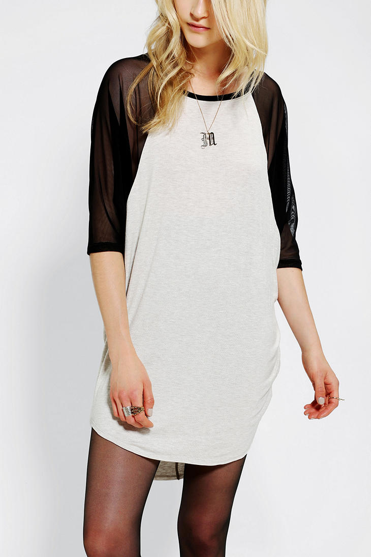 e13509837d6 Lyst - Urban Outfitters Silence Noise Sheer Dolmansleeve Tee Dress ...
