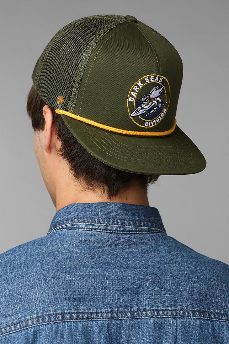 Lyst - Urban Outfitters Dark Seas Sea Bee Trucker Hat in Green for Men 9c391562632