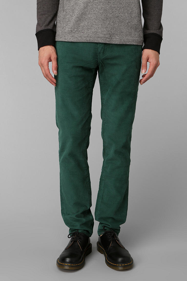 Lyst Urban Outfitters Levis 511 Corduroy Pant In Green