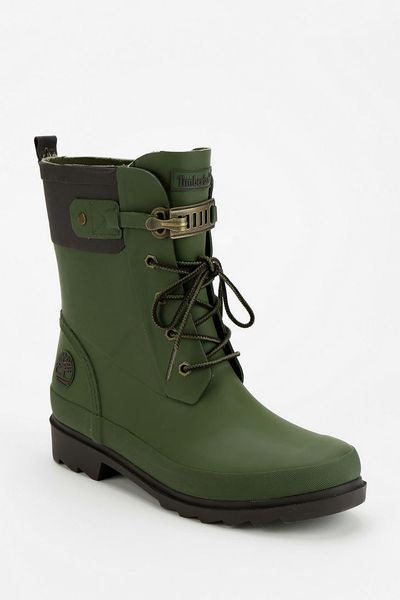 Urban Outfitters Laceup Rain Boot In Green For Men Dark