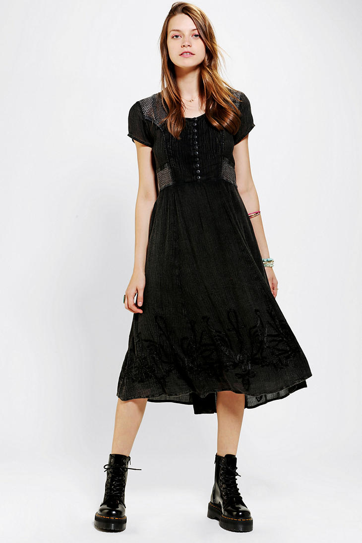 Black dress urban outfitters 10
