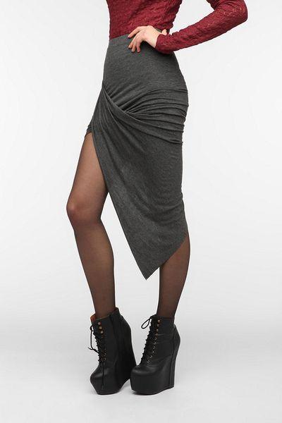 outfitters sparkle fade asymmetrical drape knit maxi