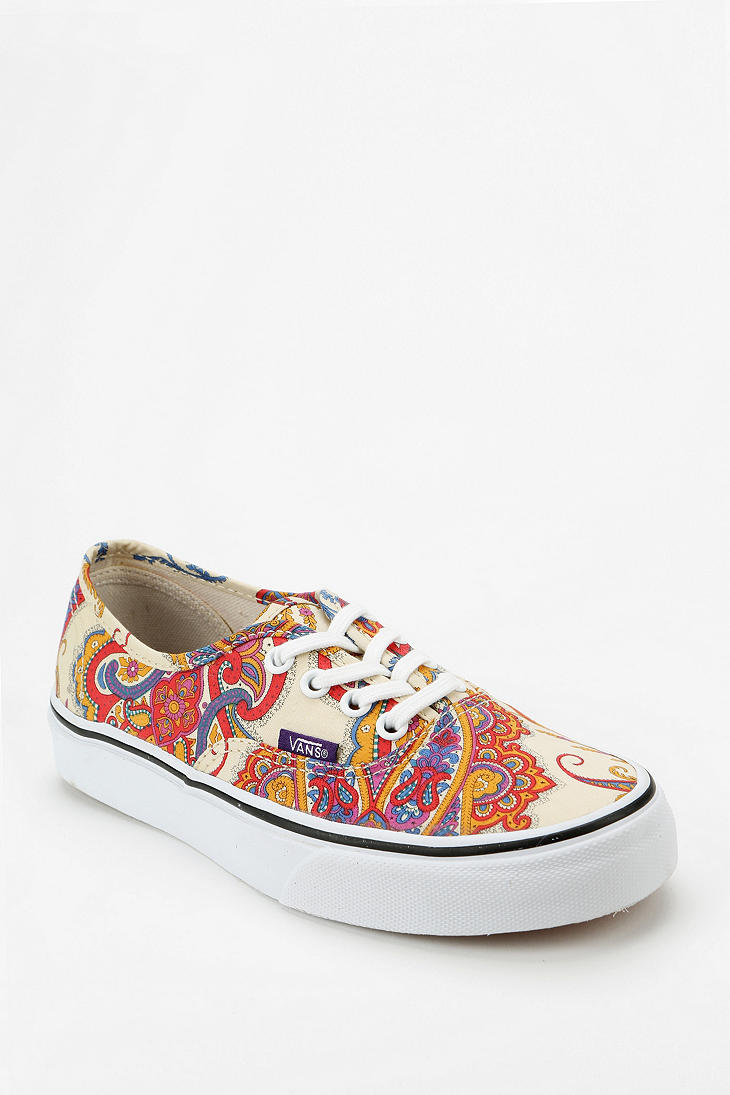 6e361eae9aeafd Lyst - Urban Outfitters Vans X Liberty London Authentic Paisley ...