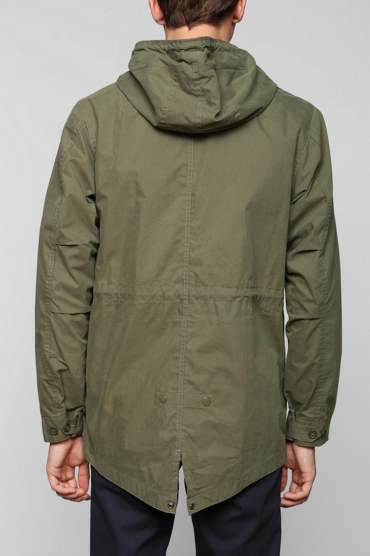 Urban outfitters Alpha Industries Fishtail Parka in Green for Men ...