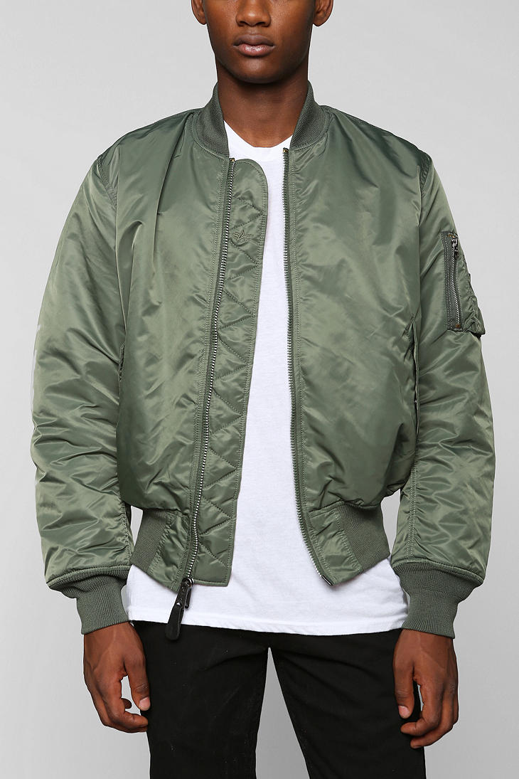 f8a5509f Urban Outfitters Alpha Industries Ma1 Bomber Jacket in Green for Men - Lyst
