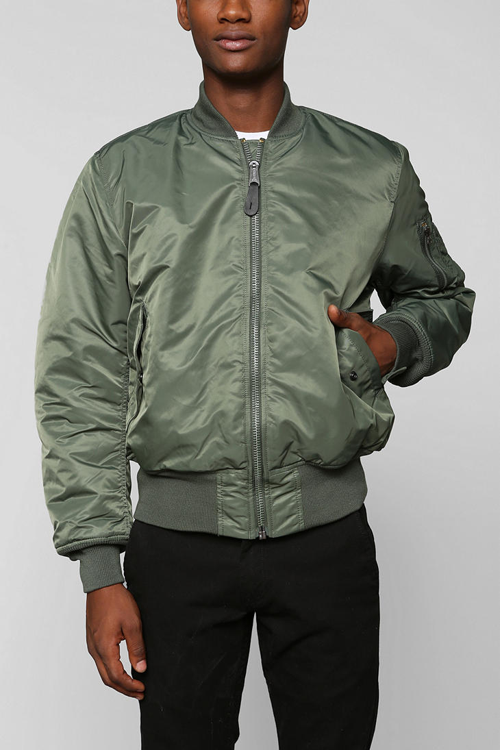 urban outfitters alpha industries ma1 bomber jacket in. Black Bedroom Furniture Sets. Home Design Ideas