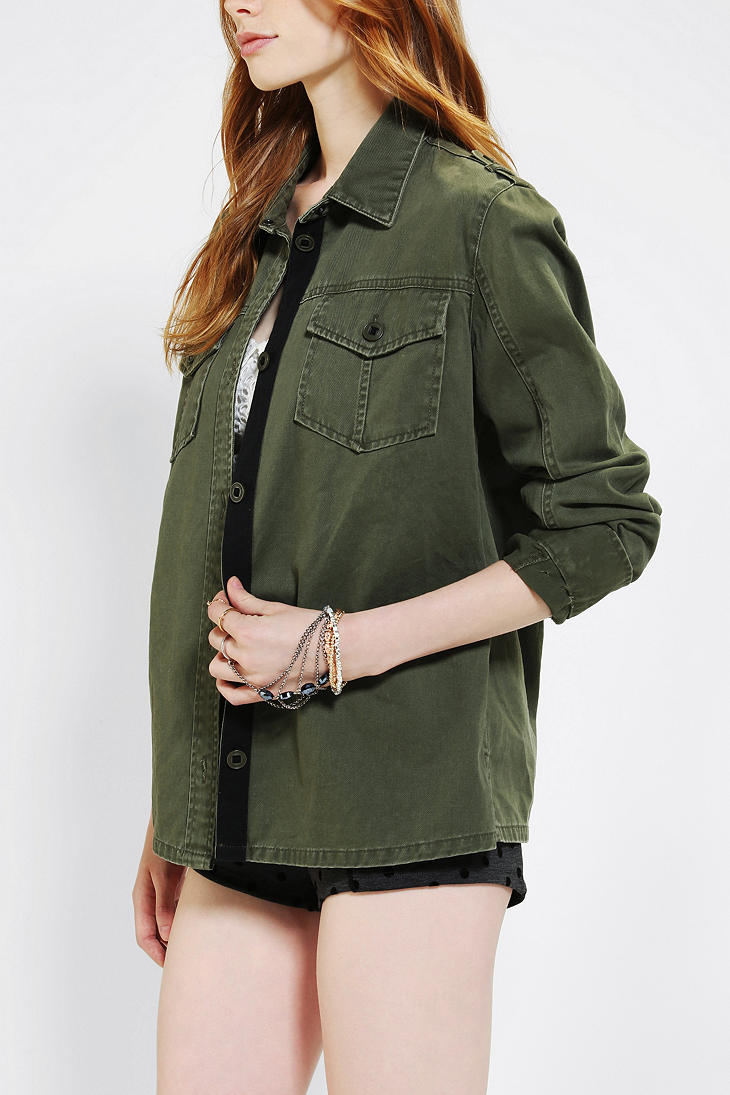 Urban outfitters Bdg Military Shirt Jacket in Green | Lyst