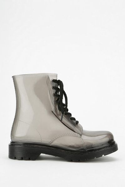 Urban Outfitters Dirty Laundry Ratatat Rain Boot In Gray