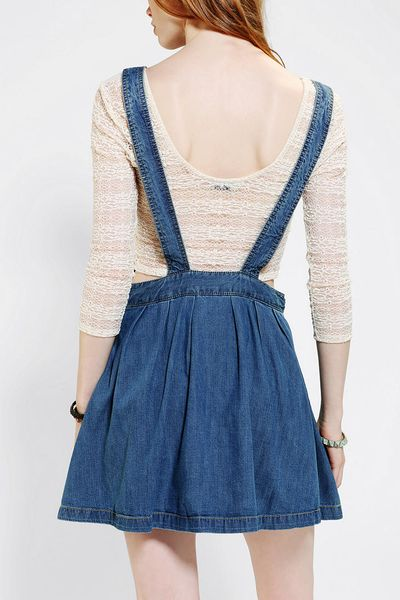 outfitters coincidence chance pleated denim overall