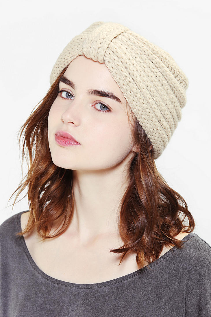 a53063e30cb Lyst - Urban Outfitters Deena Ozzy Ribknit Turban Beanie in Natural