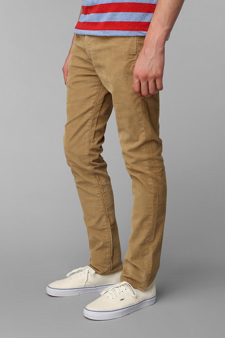 a7fe9603bb8110 Urban Outfitters Levis 511 Corduroy Pant in Natural for Men - Lyst