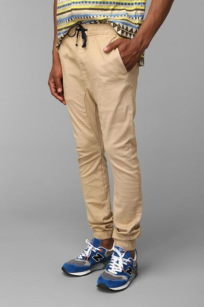 Popular Native Youth Chino Jogger In Green For Men Khaki  Lyst