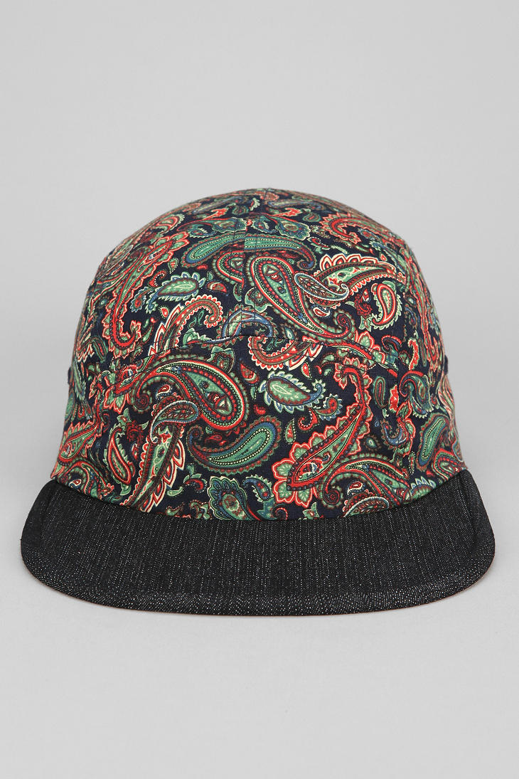 Lyst - Urban Outfitters Rosin Paisley 5panel Hat in Blue for Men b98e1924489