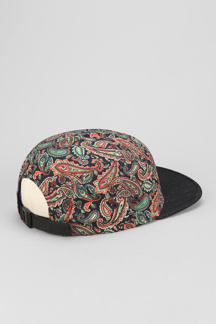 Lyst - Urban Outfitters Rosin Paisley 5panel Hat in Blue for Men 9e4b00686214