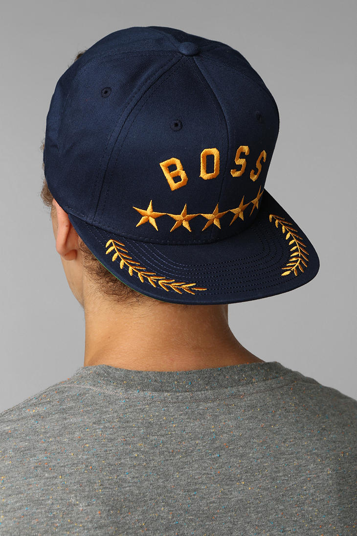 Lyst - Undefeated Boss Snapback Hat in Blue for Men 0bdd6272b159