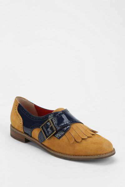 Urban Outfitters Buckle Fringe Oxford In Brown (NEUTRAL MULTI) | Lyst
