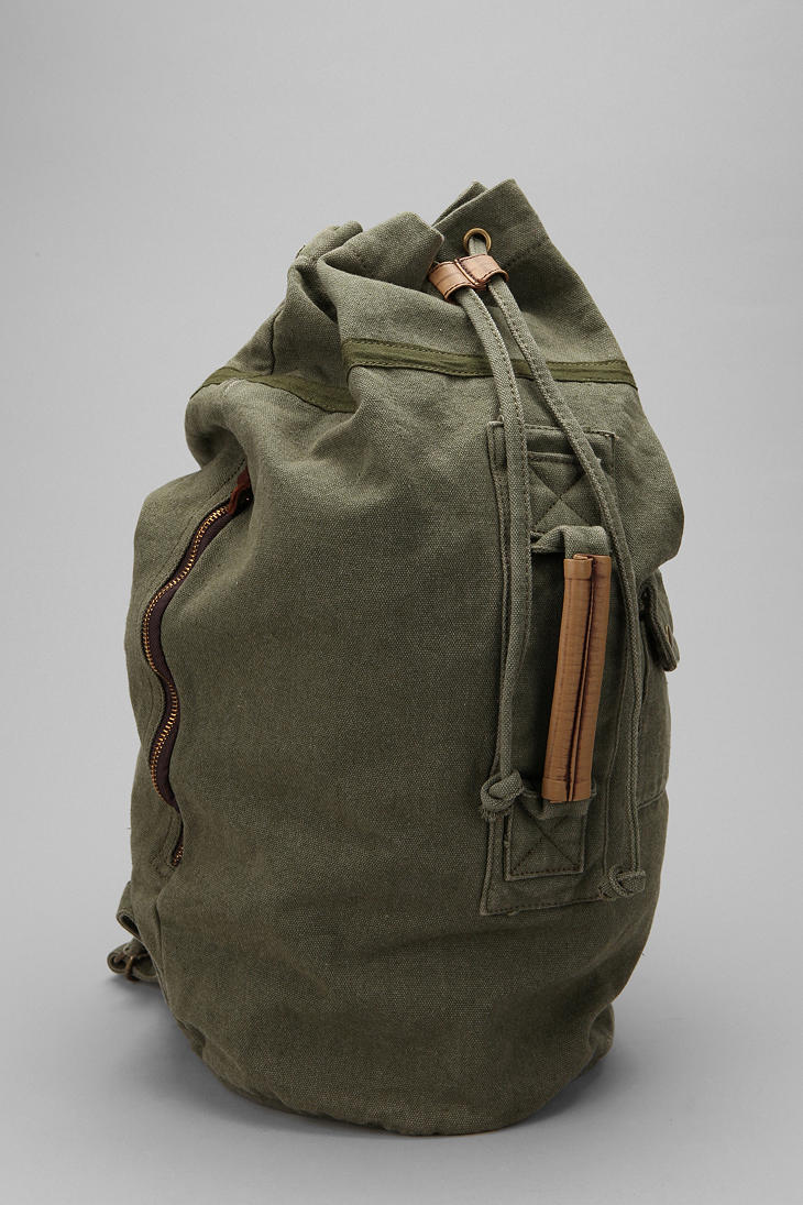 Urban Outfitters Canvas Duffle Backpack In Gray For Men Lyst