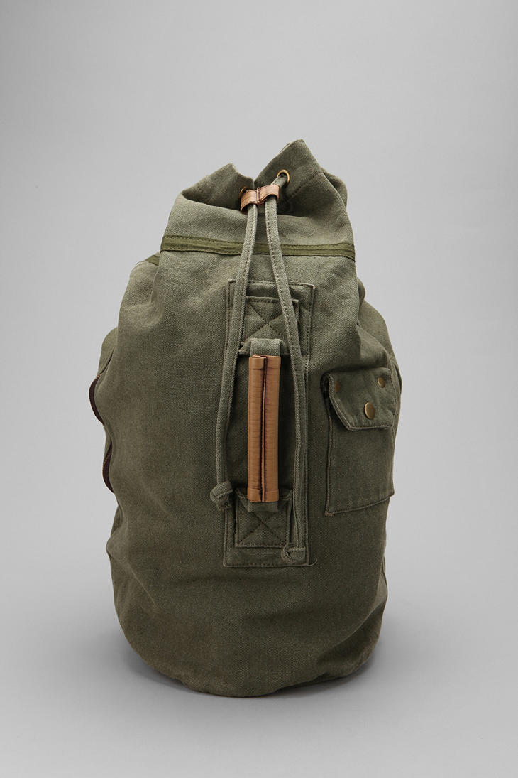 Lyst Urban Outfitters Canvas Duffle Backpack In Gray For Men