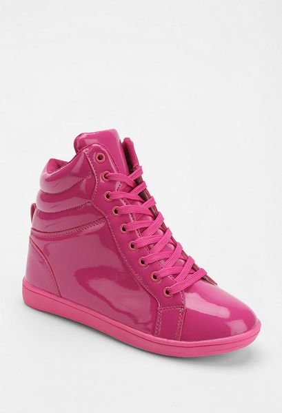 Urban Outfitters Deena Ozzy Vegan Patent Leather Hightop