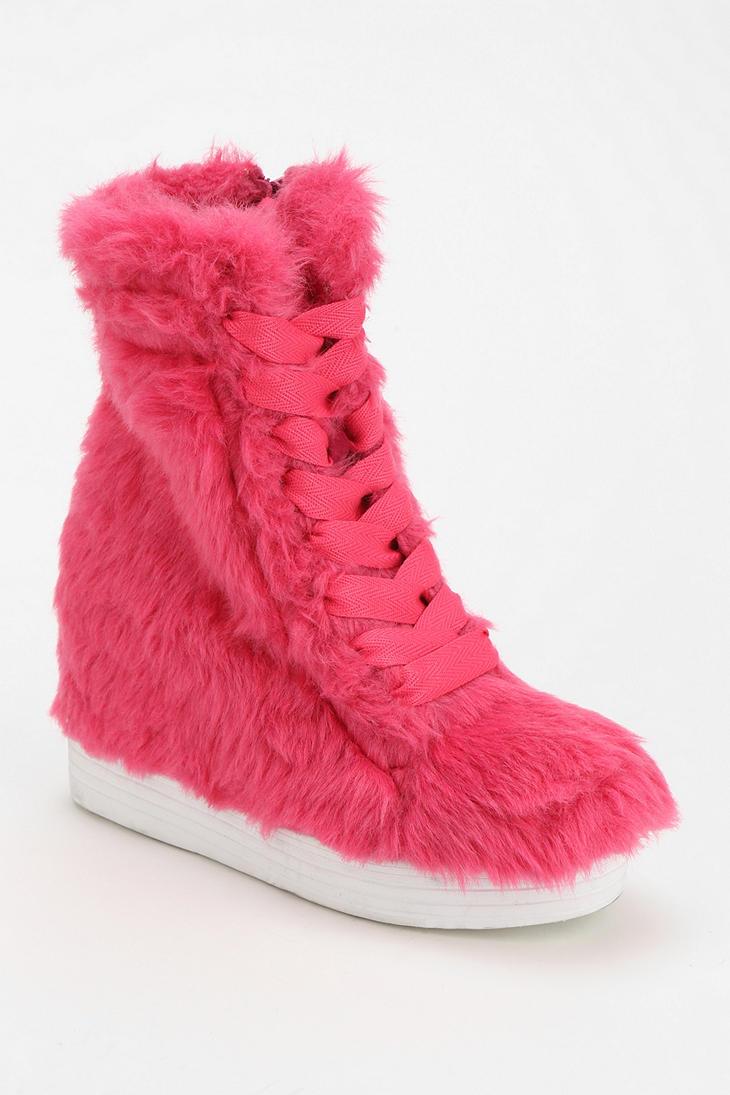 Lyst Urban Outfitters Jeffrey Campbell Troll Fur Hidden