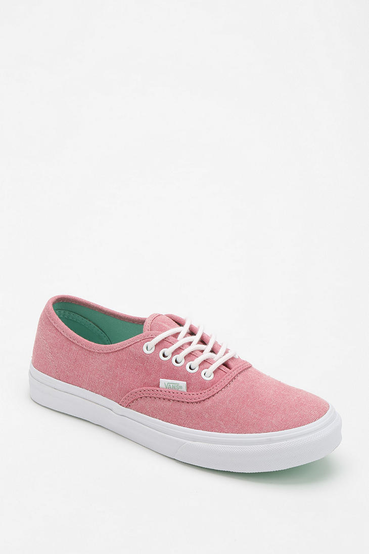 Urban outfitters Vans Authentic Stonewash Womens Sneaker in Pink | Lyst