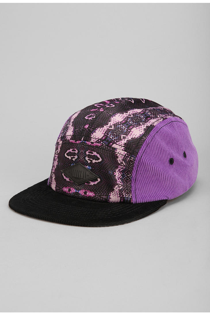 053efe3565ffd Lyst - Urban Outfitters Entree Cobra Skin 5panel Hat in Purple for Men