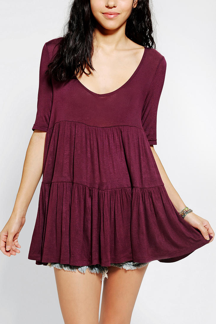 Lyst Urban Outfitters Kimchi Blue Tiered Babydoll Top In
